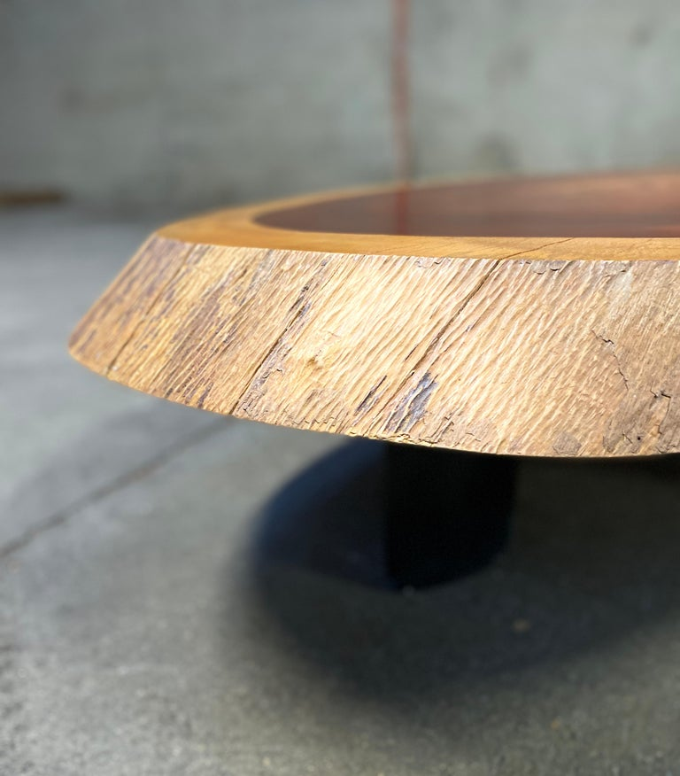 1950 Freeform Mahogany Coffee Table Cocktail Table Side Table For Sale 2