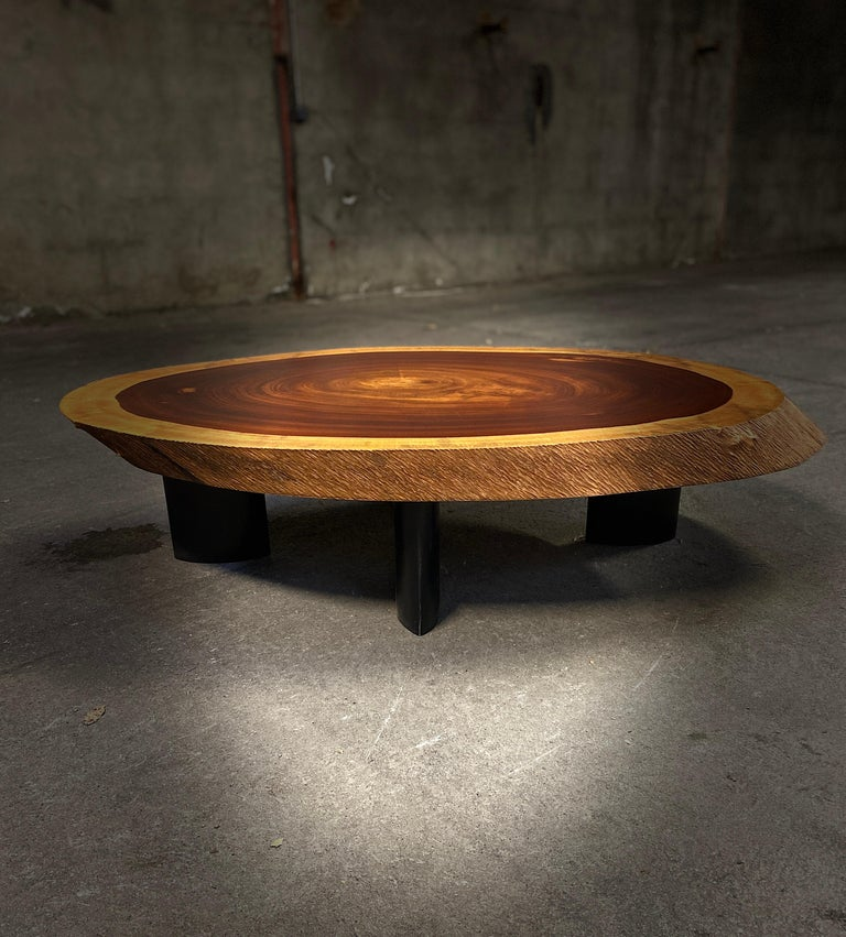 1950 Freeform Mahogany Coffee Table Cocktail Table Side Table For Sale 3