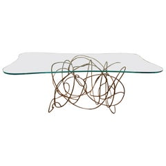 Freeform Metal Dining Console Table by Artist Patricia Larsen