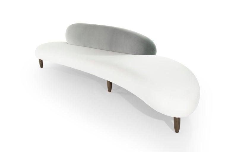 Velvet Freeform Sofa by Isamu Noguchi For Sale