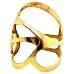 Freeform Solid 18 Karat Gold Cuff