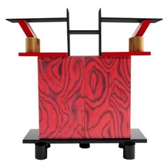 Freemont Gilded Wood Console, by Ettore Sottsass from Memphis Milano