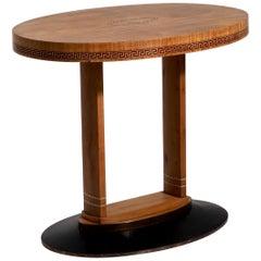Freestanding Art Nouveau Oval Table, circa 1905