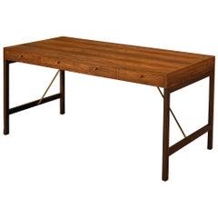 Freestanding Danish Desk by Jason Møbler in Rosewood