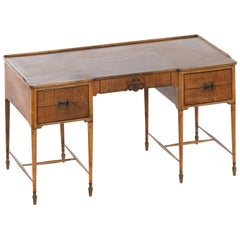 Freestanding Desk in Walnut and Brass Produced in Denmark