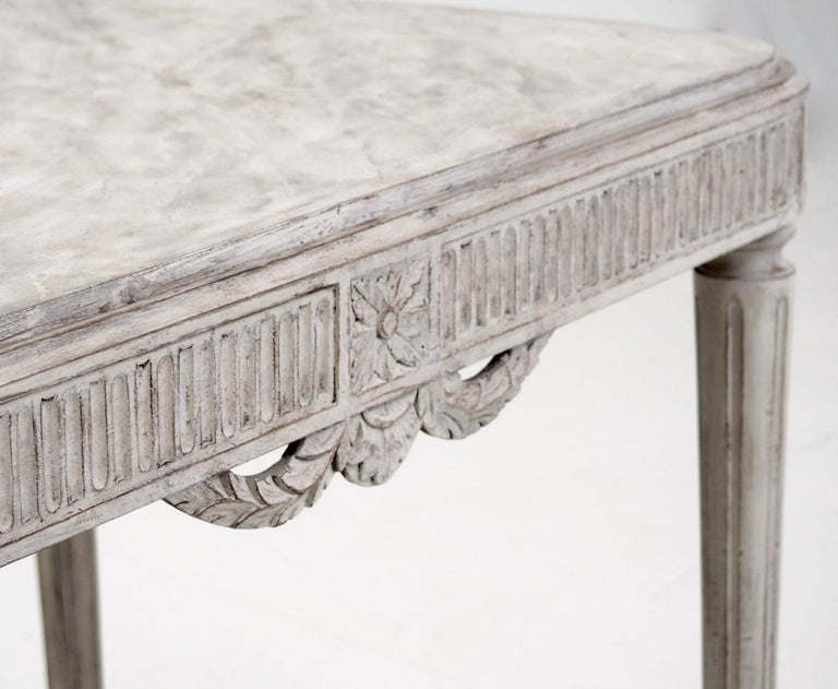 20th Century Freestanding Gustavian Style Console Table For Sale