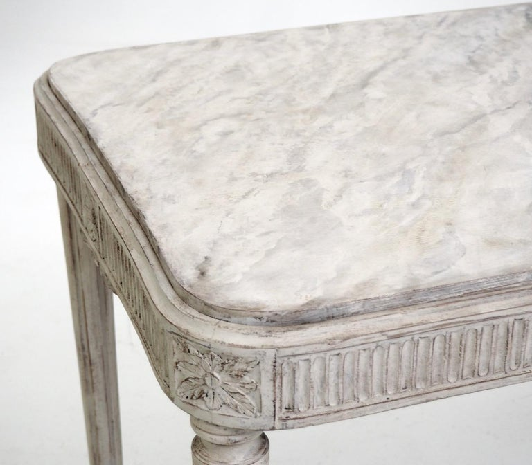 Freestanding Gustavian Style Console Table For Sale 1