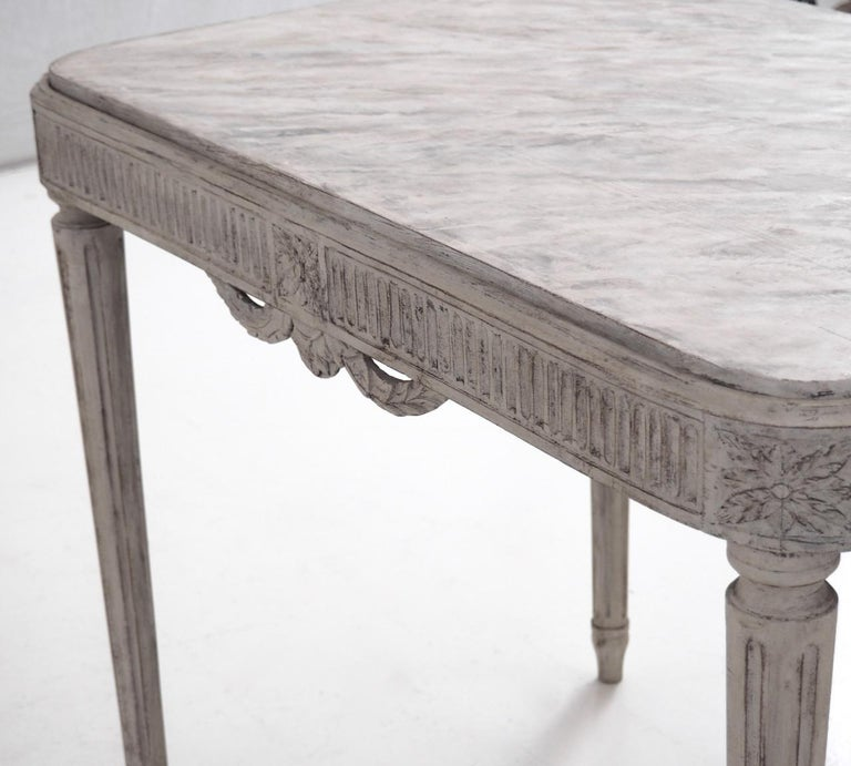 Freestanding Gustavian Style Console Table For Sale 2