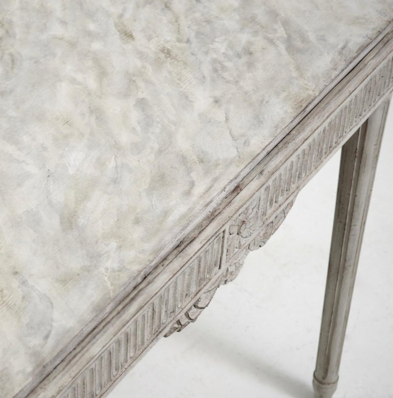 Freestanding Gustavian Style Console Table For Sale 3