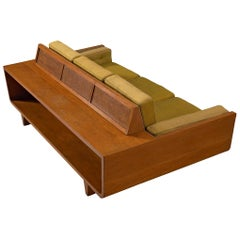 Freestanding Italian Sofa in Walnut