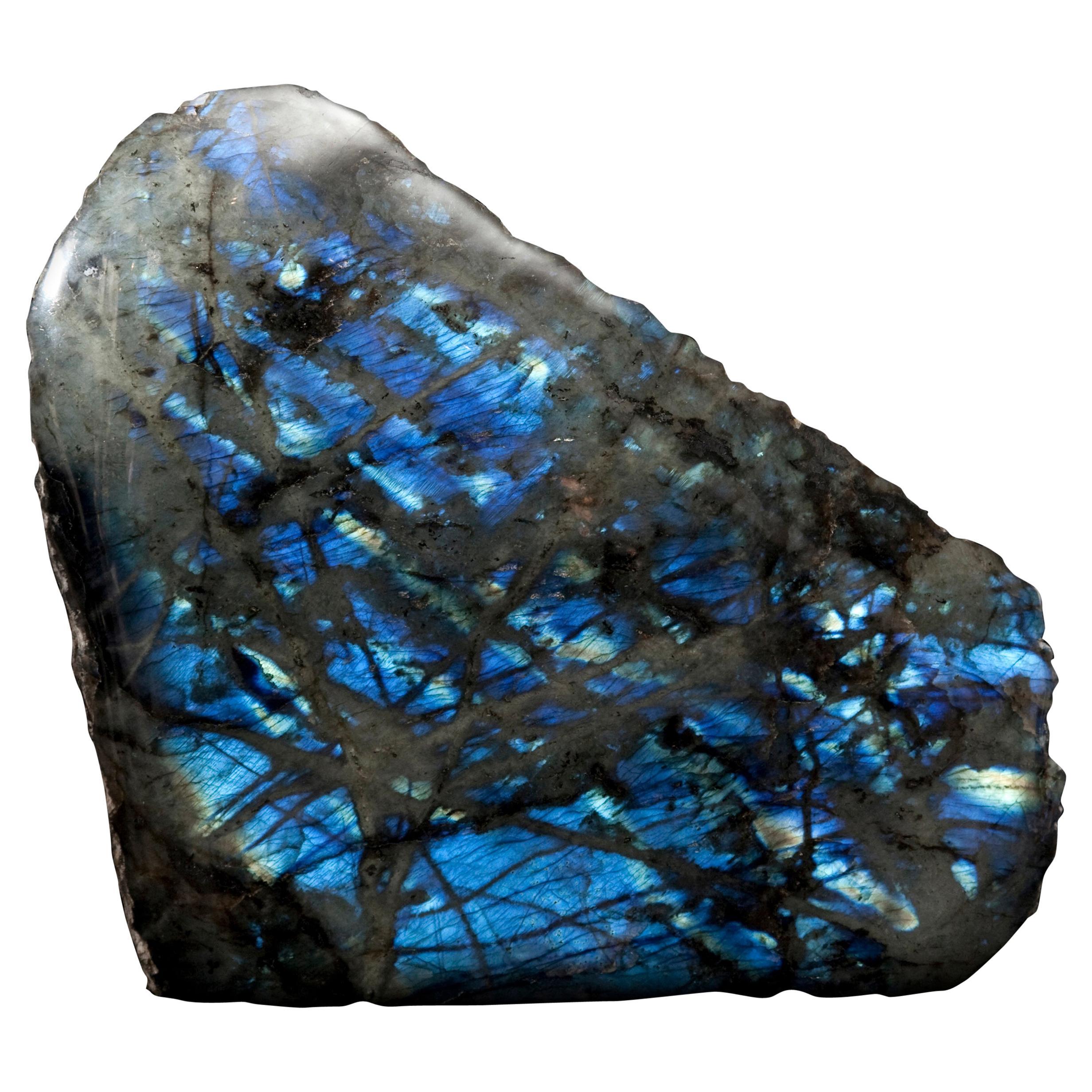 Freestanding Labradorite Crystal from Madagascar