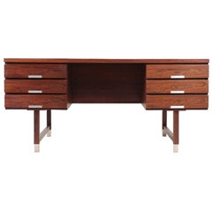 Freestanding Midcentury Desk in Rosewood, Made in Denmark