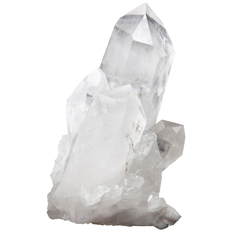Brazil Natural Clear Rock Quartz White Crystal Cluster Specimen Ornament Gift US