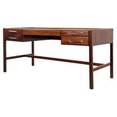 Freestanding Rosewood Desk by Kurt Østervig for Jason Møbler, Danish 1950s
