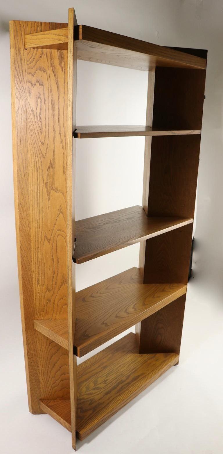 Oak Freestanding Shelf by Lane For Sale