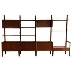 Freestanding Teak Wall Unit by Fredrik A. Kayser for Gustav Bahus, Norway, 1960s
