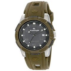 Freestyle Kampus Stainless Steel Green Rubber Quartz Men's Watch 10016968