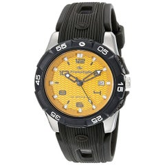 Freestyle Kampus Stainless Steel Yellow Dial Quartz Men's Watch 10019189