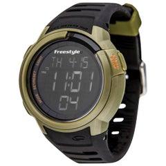 Freestyle Mariner Rubber Plastic Black/Olive Quartz Digital Watch 10019178