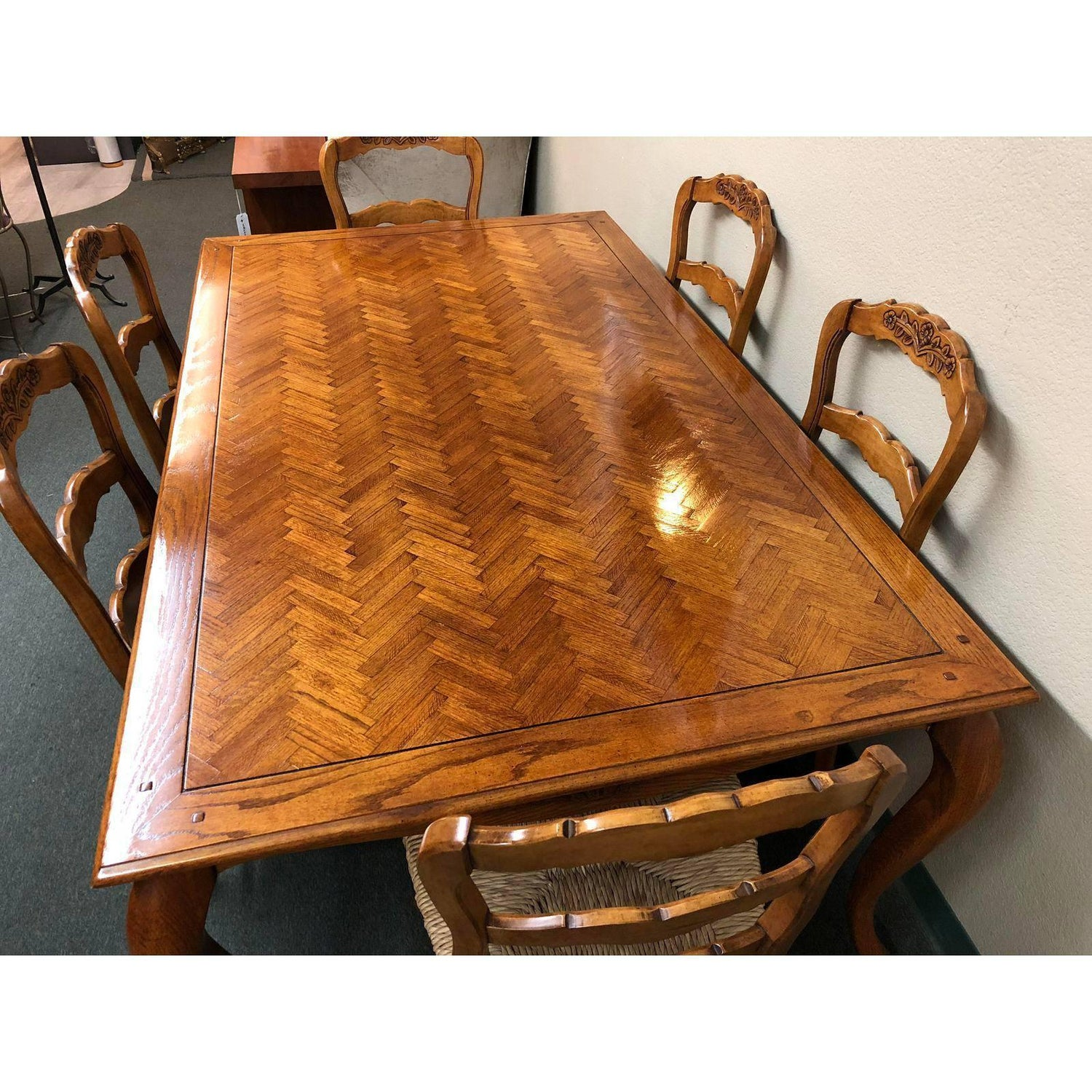 Fremarc Designs Chateau Country Dining Table With Six Chairs For - Fremarc dining table
