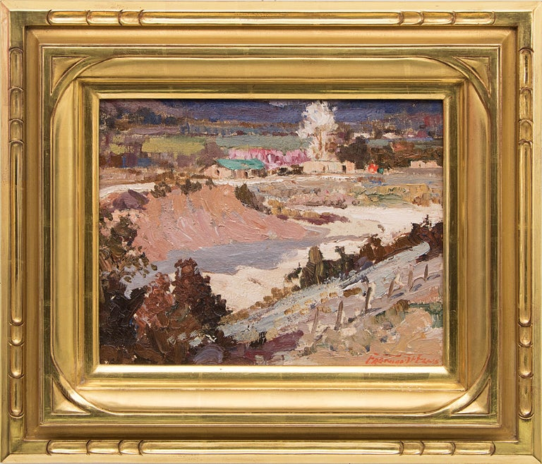 Fremont Ellis Landscape Painting - Velarde Valley (New Mexico Landscape with Adobes)