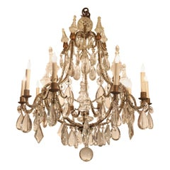 French 10-Light Chandelier