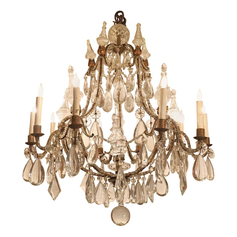 French 10 Light Chandelier For At, Catania Vintage French Country Wood 6 Light Chandelier