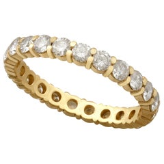 French 1.32 Carat Diamond and Yellow Gold Full Eternity Ring