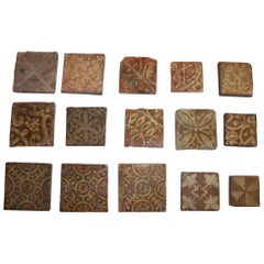 French 16th Century Tiles