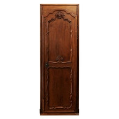 French 1790s Louis XVI Period Communication Door with Carved Foliage Motif