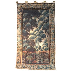 French 17th Century Aubusson Verdure Tapestry
