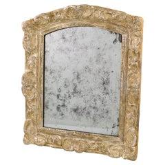 French 17th Century Louis XIV Silver Leaf Mirror