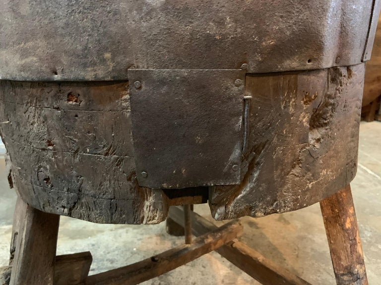 Iron French 17th Century Moulin, Grain Grinding Billot For Sale