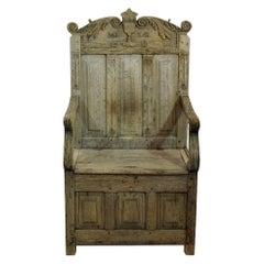 French 17th Century Oak Throne Chair