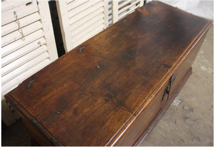 French 17th Century Trunk or Blanket Chest For Sale 3