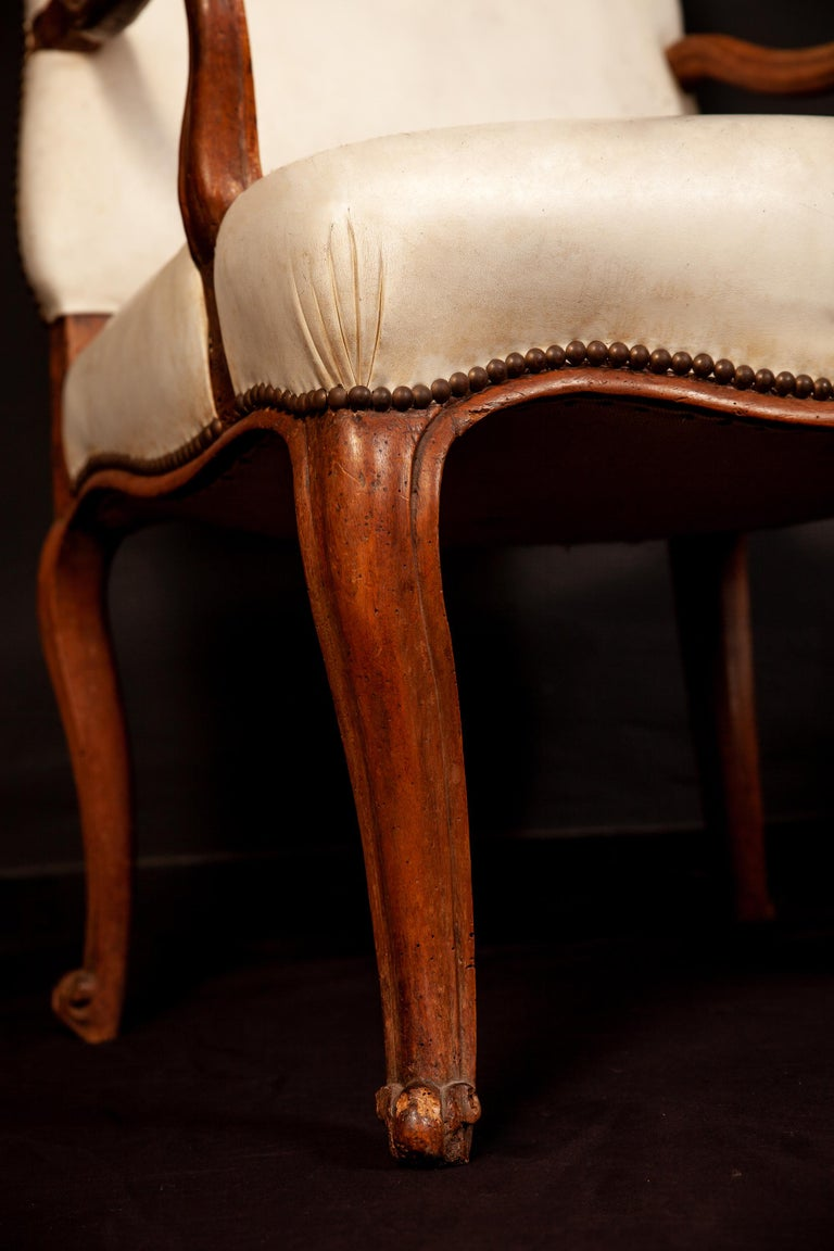 French, 18th Century Dining Room Six Chairs and Two Armchairs, 1760 For Sale 5
