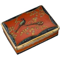 French 18 Karat Gold-Mounted and Japanese Lacquer Snuff Box, circa 1780