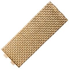 French 18 Karat Gold Woven Bracelet