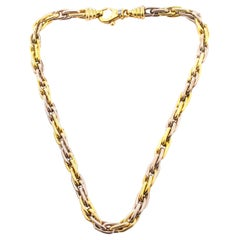 French 18 Karat White and Yellow Gold Ladies Necklace