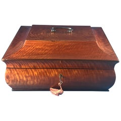 French 1820 Pagoda Shaped Satinwood Box