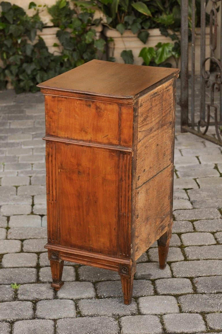 a4d1ec1b9f French 1840s Louis-Philippe Walnut Bedside Cabinet with Single Drawer and  Door For Sale 5