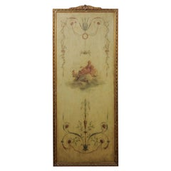 French 1850s Napoléon III Framed Architectural Panel with Allegory of the Arts
