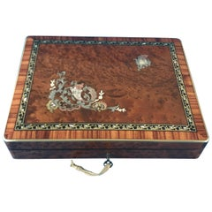 French 1870 Burr Cedar Table Box