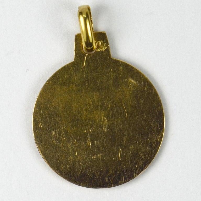 French 18 Karat Yellow Gold Zodiac Cancer Charm Pendant For Sale 1