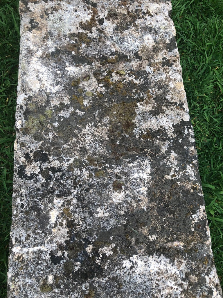 French 18th Century Long Rustic Baux Stone Bench For Sale 6