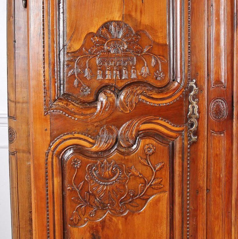 French Provincial French 18th Century Armoire For Sale