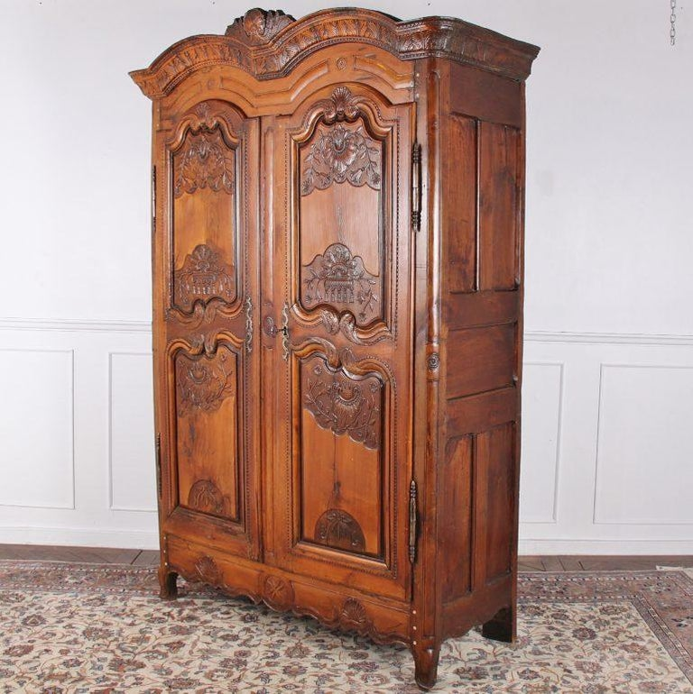 Cherry French 18th Century Armoire For Sale