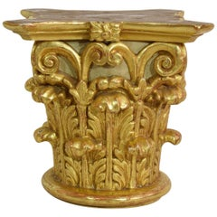 French 18th Century Carved Giltwood Capital