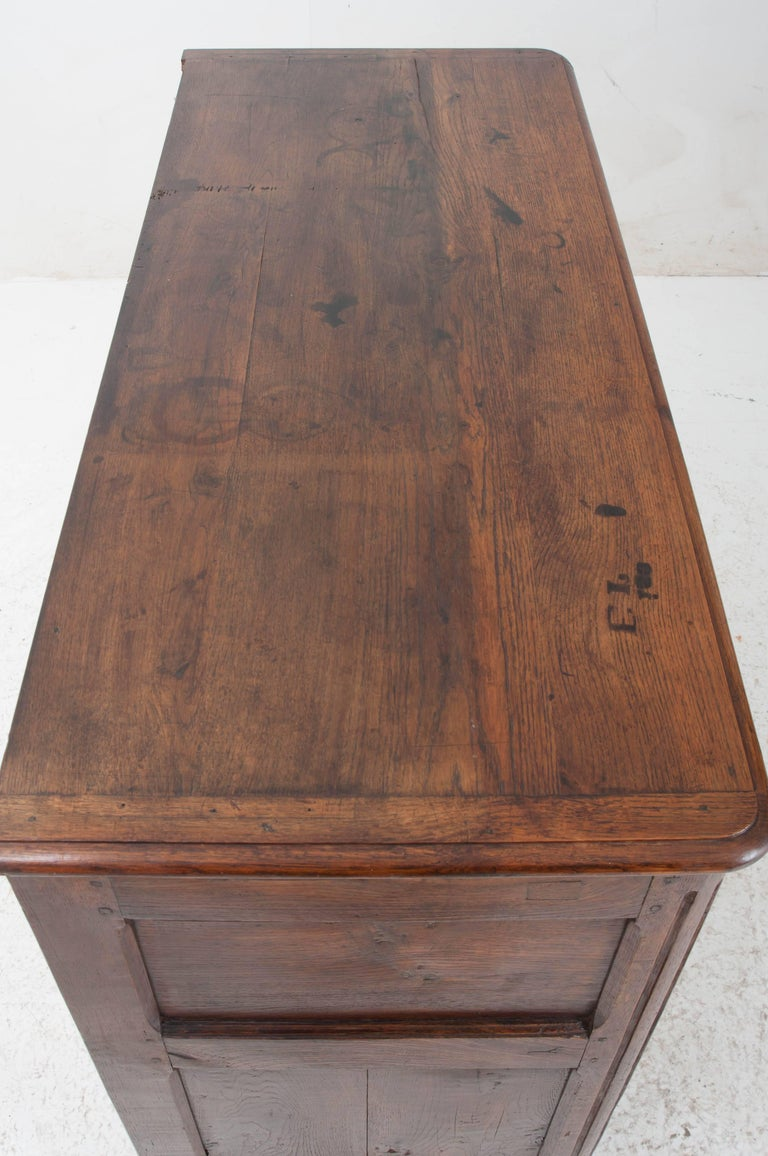 18th Century and Earlier French 18th Century Carved Oak Buffet For Sale