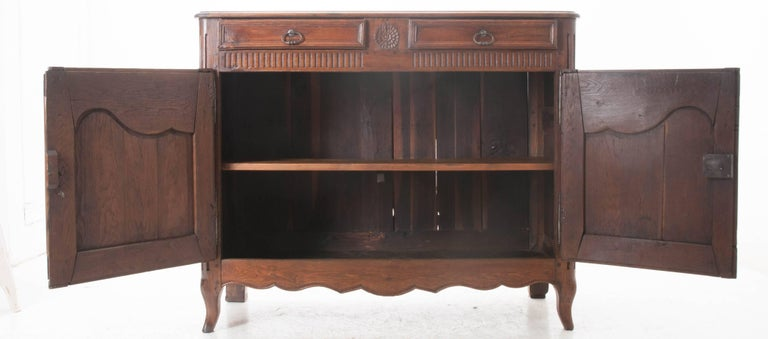 Cherry French 18th Century Carved Oak Buffet For Sale